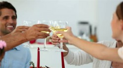 stock-footage-family-toasting-at-christmas-at-the-dinner-table-at-home