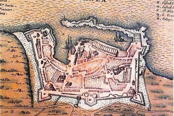 Χάρτης της πόλης των Χανίων