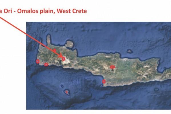 Η περιοχή του Ομαλού όπου έχουν βρεθεί πληθυσμοί του Χαιρόφυλλου