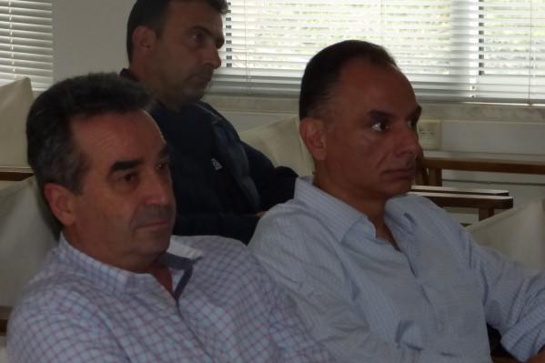 Οι κύριοι Μηλιαράκης (αριστερά) και Δημητρακόπουλος