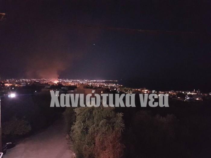 Η φωτιά όπως φαίνεται από την Χαλέπα
