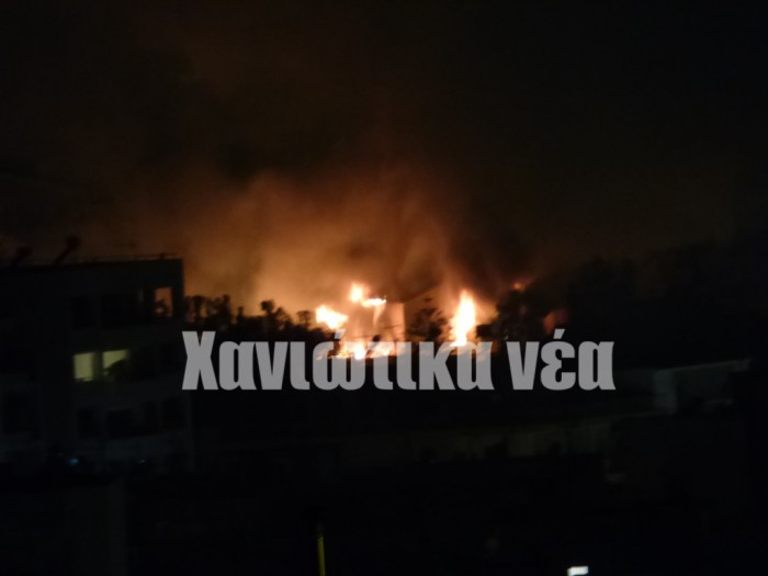 Η φωτιά όπως φαίνεται από την περιοχή της Αμπεριάς