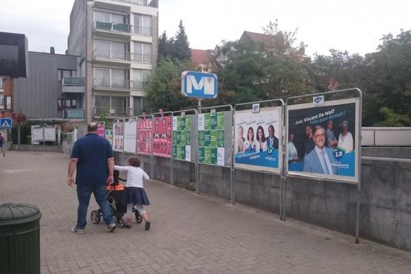 Χώρος αφισοκόλλησης για τις δημοτικές εκλογές στο Βέλγιο