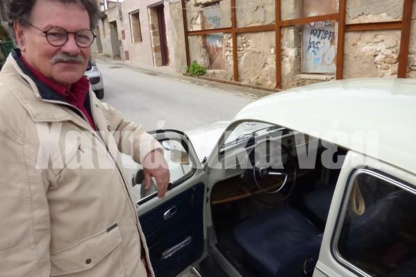 """""""Φανατικός"""" φίλος του σκαραβαίου τον οποίο και διατηρεί από το 1976 σε άριστη κατάσταση ο κ. Αριστομένης Βαρουδάκης"""