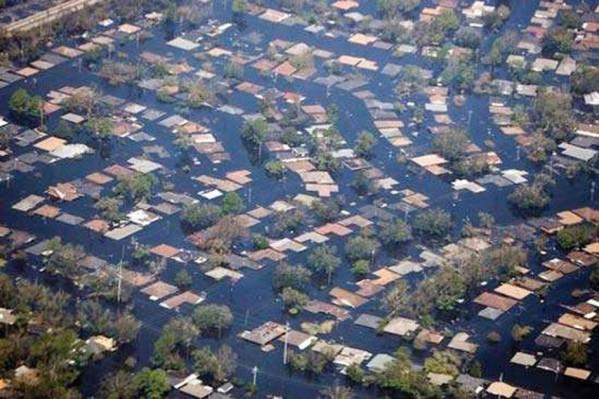 Αποψη της Νέας Ορλεάνης-ΗΠΑ μετά τις καταστροφές του τυφώνα KATRINA το 2005.