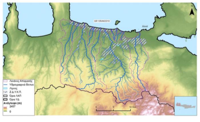 Τα 12 βασικά ρέματα - ποτάμια στον κόλπο των Χανίων