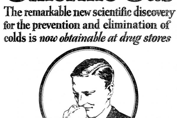 ''Aέρια χλωρίνη – Νέα ανακάλυψη για την πρόληψη και εξαφάνιση του κρυώματος'' – Ατυχής ιδέα αντιμετώπισης κρυώματος, στην Ιντιάνα των ΗΠΑ (1926).