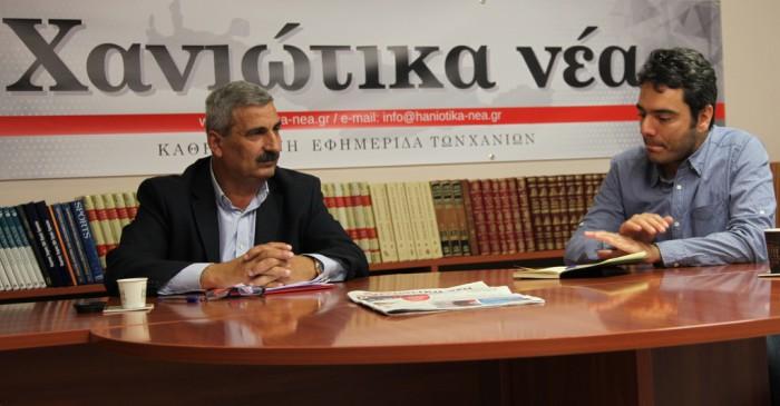 """Μιλώντας στα """"Χ.ν."""" ο κ. Ντουντουλάκης έθεσε ως πρώτη προτεραιότητα εφόσον εκλεγεί, την αντιμετώπιση των προβλημάτων της καθημερινότητας"""