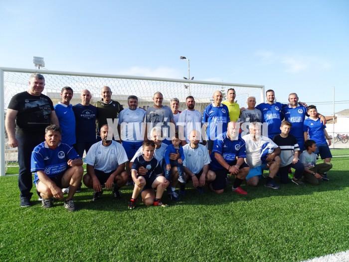 Οι παλαίμαχοι του Ιδομενέα έδωσαν φιλικό αγώνα στο ανακαινισμένο γήπεδο του Γαλατά.