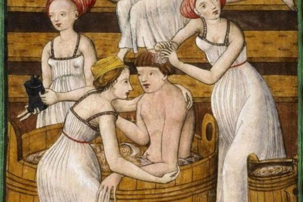 Πίνακας του 15ου αιώνα, που απεικονίζει λουτρά του Παρισιού.  Μέχρι και το 16ο αιώνα, κυρίως στις ανώτερες τάξεις, κυριαρχούσε η ιδέα της επιμελούς καθαριότητας, για λόγους διατήρησης καλής υγείας.