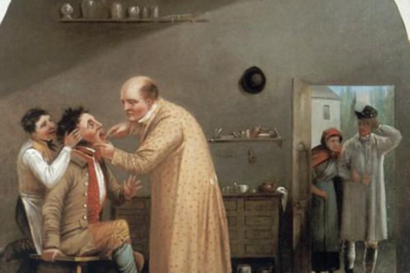 Οδοντίατρος επί το έργον (1830).