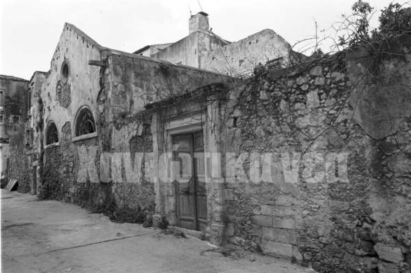 Η είσοδος της Συναγωγής πριν (φωτ. Εβραϊκό Μουσείο Ελλάδας)
