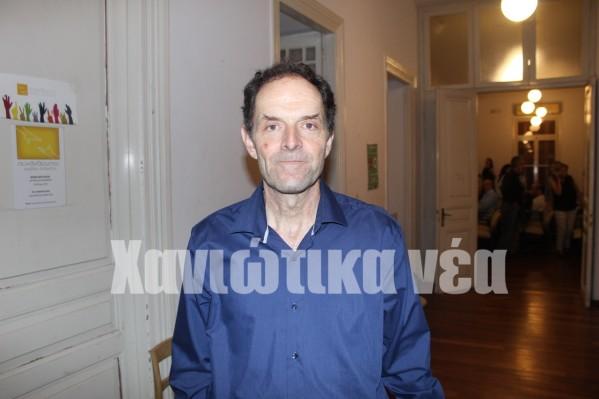 Ο πρόεδρος του Ορειβατικού Συλλόγου, Σταύρος Μπαδογιάννης.