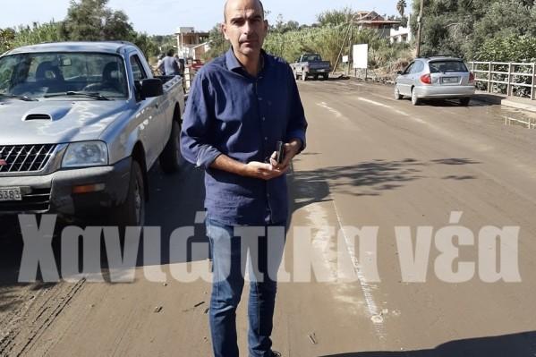Στην περιοχή βρέθηκε από νωρίς το πρωί ο δήμαρχος Καντάνου - Σελίνου Αντώνης Περράκης.