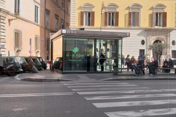Αυτό το σύγχρονο γραφείο Πληροφοριών προβάλλει αμέτρητες εμπορικές διαφημίσεις στην οθόνη του στο δρόμο.