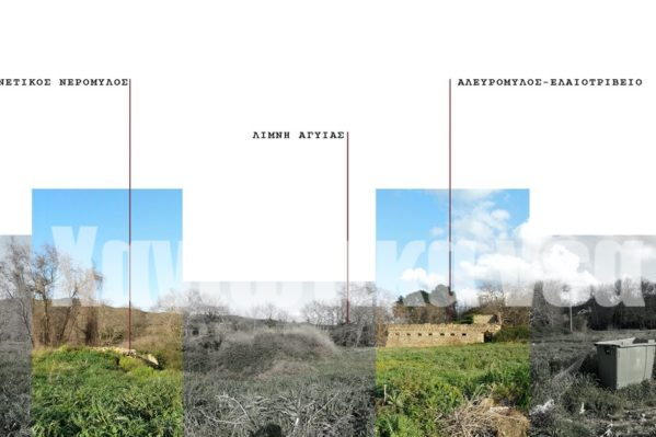 Το συγκρότημα των παλιών νερόμυλων - αλευρόμυλων όπως το αποτύπωσε στη διπλωματική της εργασία η κα Γκίκα