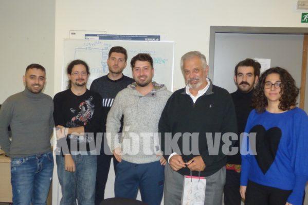 Φοιτητές του εργαστηρίου με τον ιδρυτή του Σ. Χριστοδουλάκη.