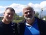 Ορέστης Ντουσάκης και ο προπονητής του Κωστής Παπαμαρκάκης